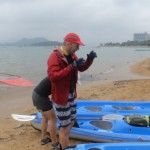 Celebrating Buddha's birthday by Kayaking over to Trio Beach from Sai Kung