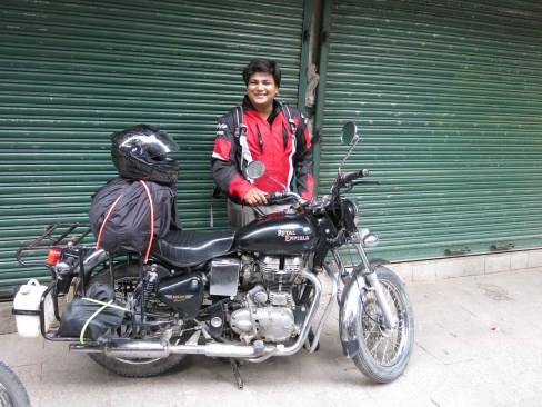Prashant and his Enfield