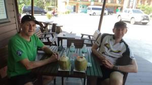 Coconut drinking marathon