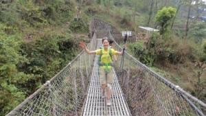 We crossed many of these suspension bridges