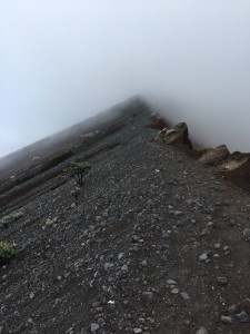 The volcanic terrain